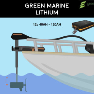 Green Marine Lithium Battery for Minn Kota and all Electric Trolling Motors for Bass Fishing by Green Energy Limited
